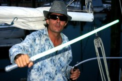 Morgan Steele at Sanford's Lake Monroe with Lightsaber 2