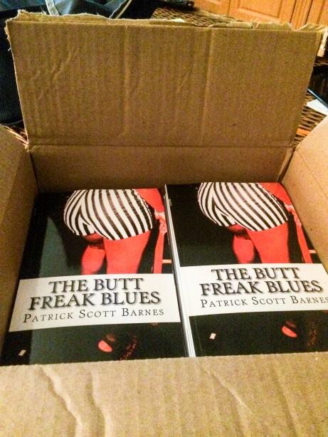 Box of Butt Freak Blues Books