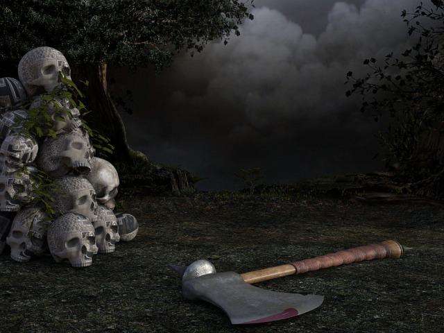 skull and ax