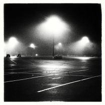Apopka Superwalmart Parking Lot at Night