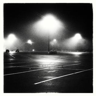 Apopka Superwalmart Parking Lot at Night