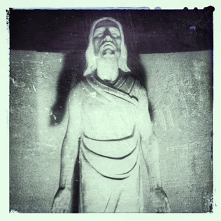 Christ Statue at Night
