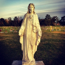 Christ Statue in Sanford Cemetary