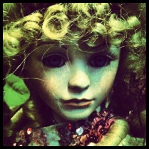 Creepy Blue Eyed Doll