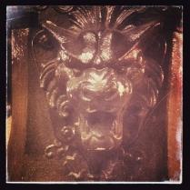 Gargoyle on Lamp Post at Church Street Orlando