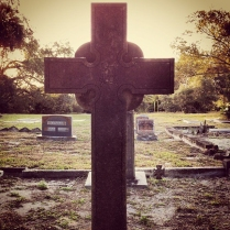 Head Containing a Dollar Sign at Sanford Cemetary