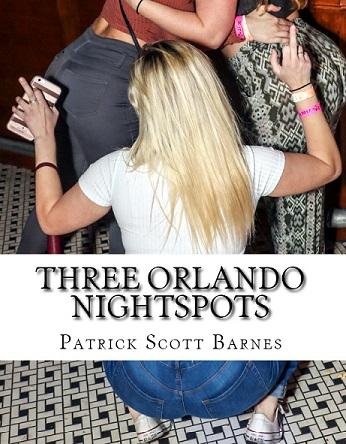 Photo book cover containing a blonde flicking a bird in Downtown Orlando bar.