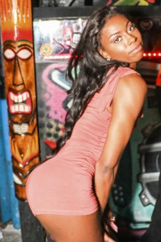 Ebony Girl at Orlando's The Patio