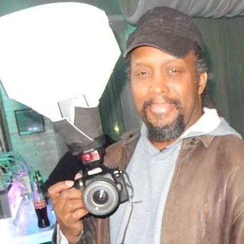 Blogger Patrick Scott Barnes AKA Stone Crazy Holding a Camera