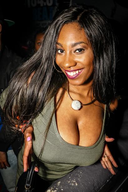 Sexy ebony woman with big tits,